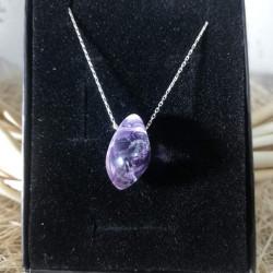 Amethyst Silver Necklace