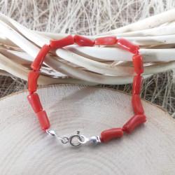 Boyasız Kırmızı Mercan Bileklik
