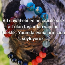 Bracelet made of stones belonging to you with your name and surname numerology accountAkik Bracelet mixed color