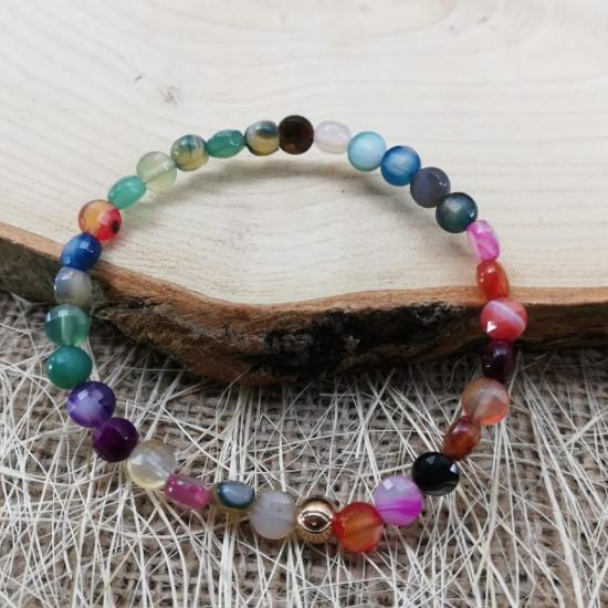 Agate Bracelet mixed color
