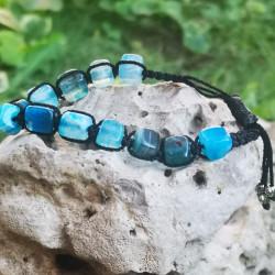 Agate Bracelet blue Color