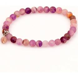 Matte Amethyst Stone Bracelet (6 Mm)