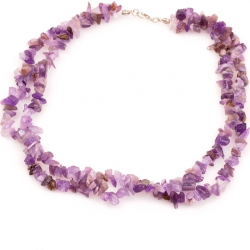 Amethyst Stone Double Row Necklace: