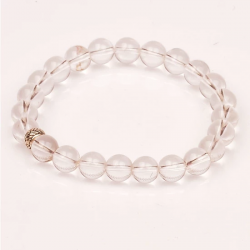 Crystal Quartz Stone Bracelet (8 Mm)